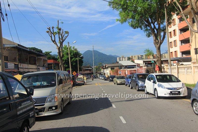 Jalan Air Putih, formerly known as Ayer Puteh Road, viewed towards Jalan Air Itam
