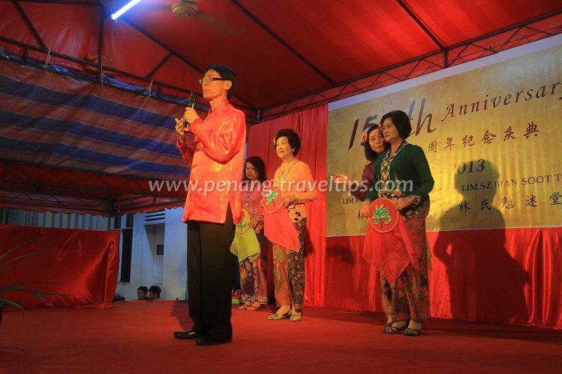 Baba Johny at Lim Kongsi 150th anniversary