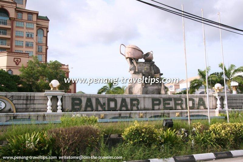 Bandar Perda sign