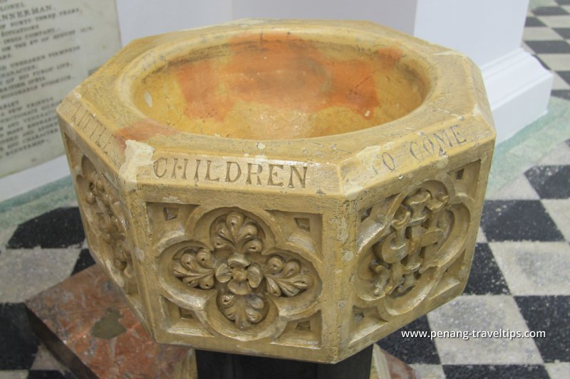 Baptismal font, St George's Anglican Church