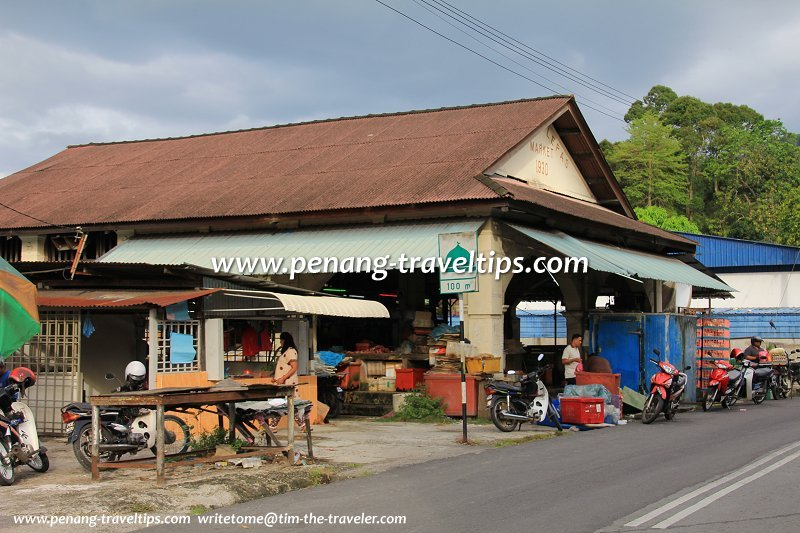 The historic Bayan Lepas Market, side view