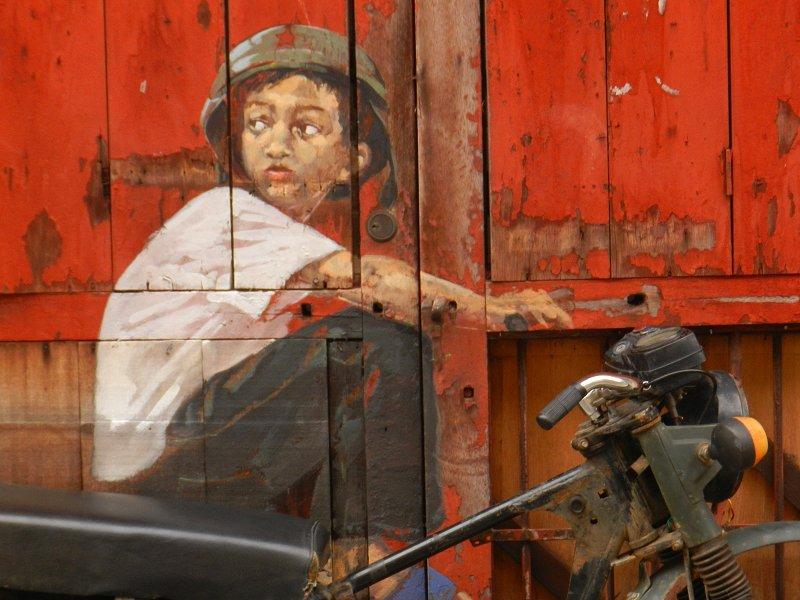 Boy on a Bike Mural, Ah Quee Street, George Town, Penang