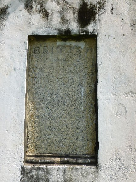 Inscription on the British-Siamese Boundary Stone, Ekor Kuching