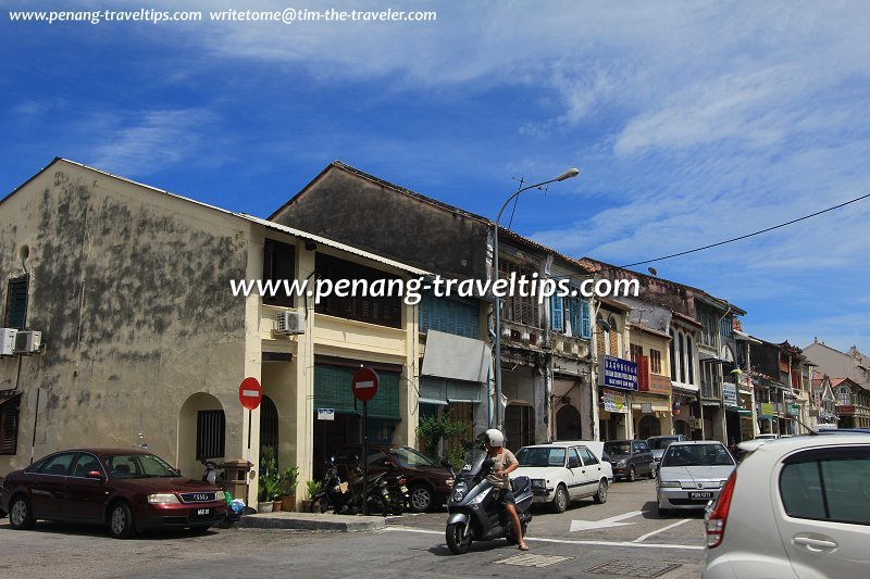 Within a single stretch of street in inner George Town may be buildings from various periods of history