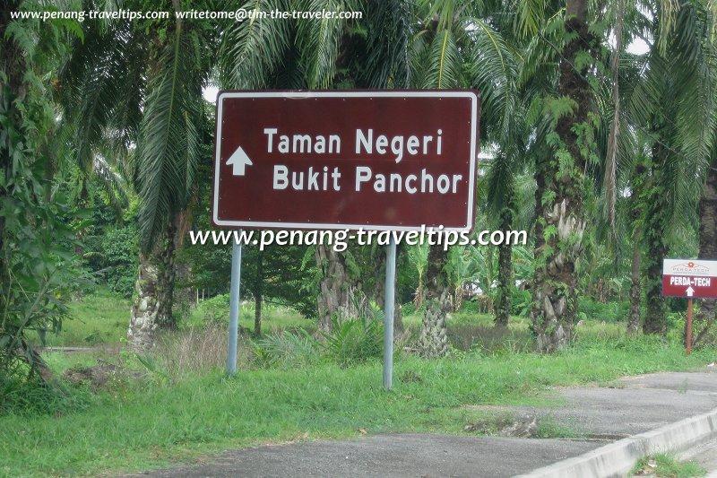 Bukit Panchor State Park signboard