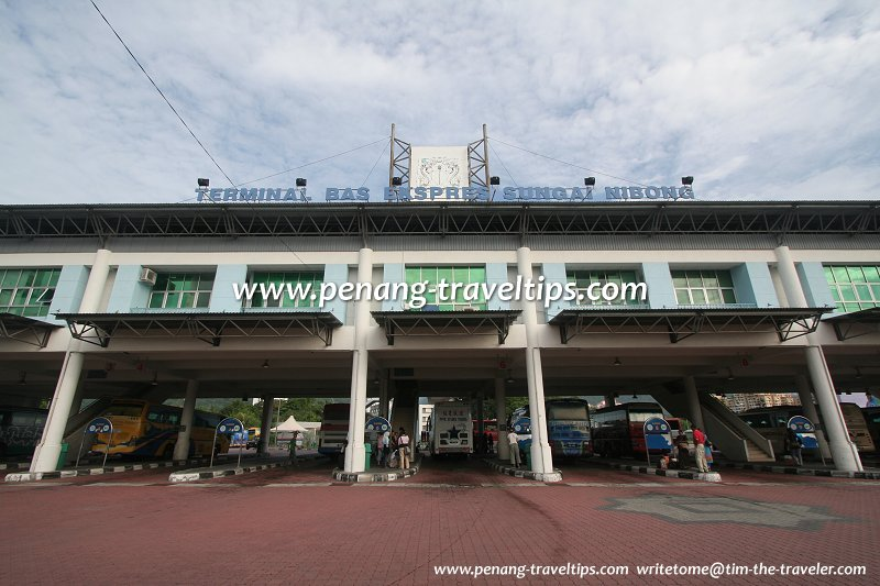 Bus lanes at the Sungai Nibong Express Bus Terminal