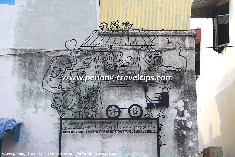 Char Koay Teow Sculpture, Kimberley Street, George Town, Penang