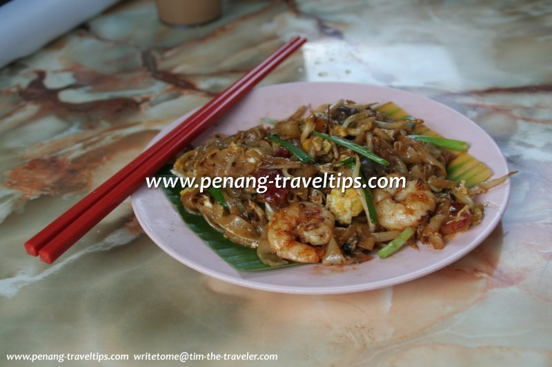Char Koay Teow, stall at Ipoh Lane, Jelutong Market