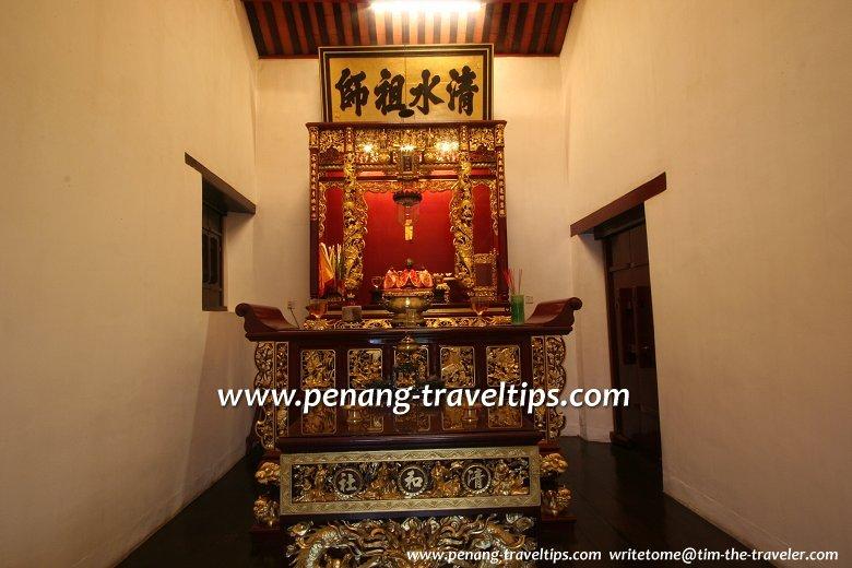 Altar to Cheng Chooi Chor Soo, patron deity of the Cheng Hoe Seah