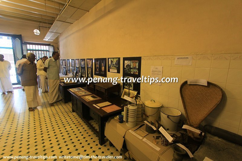 Hall where the Chettiar clerical staff conduct their money-lending business