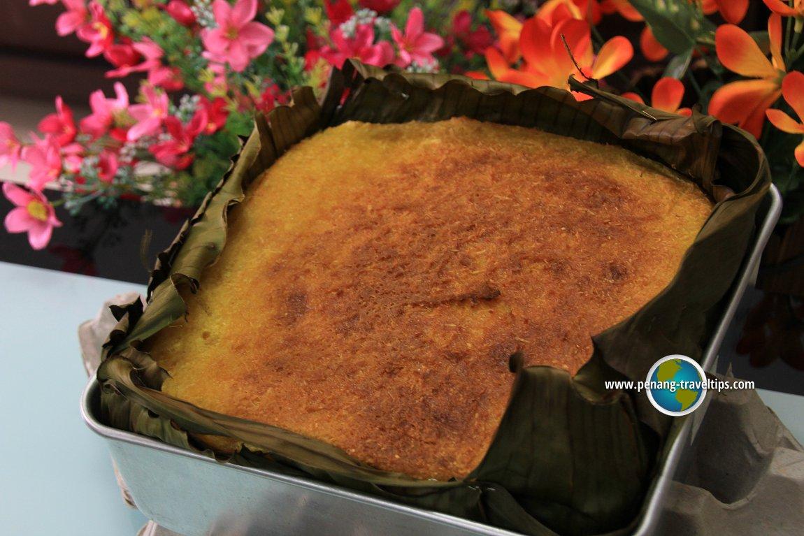 Freshly baked Kuih Bengka Ubi Kayu