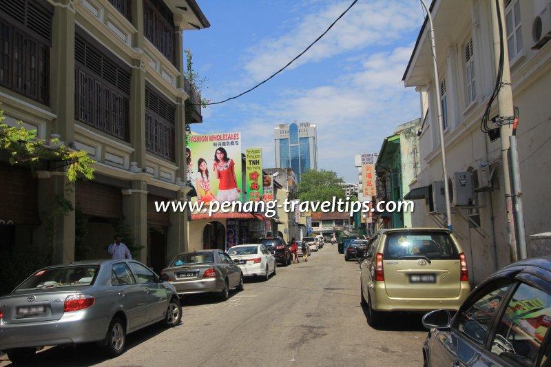 Cintra Street, looking towards Chulia Street