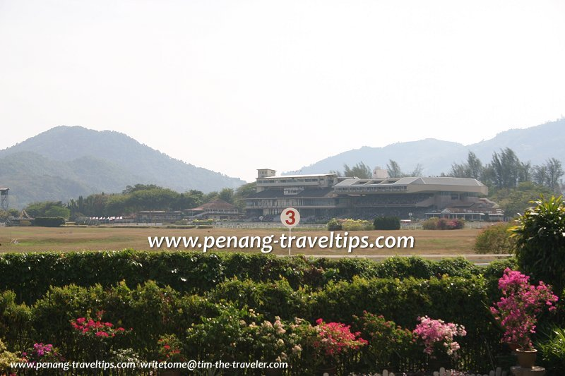 View of the Penang Turf Club main buildings from Jesselton Heights