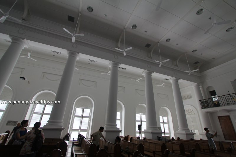 Interior columns of the St George's Church