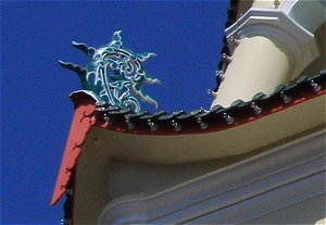 Curved Finials, Lower Tier, Pagoda of 10,000 Buddhas