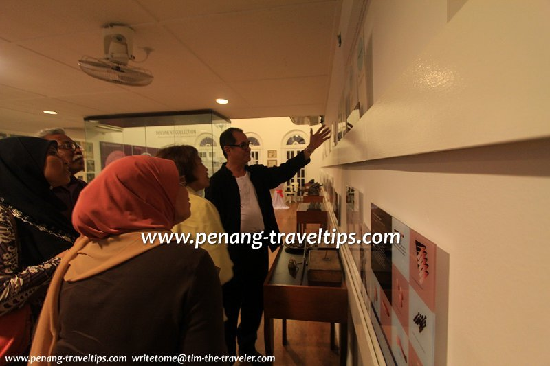 Dato Sri Stephen Yeap showing visitors through the House of Yeap Chor Ee