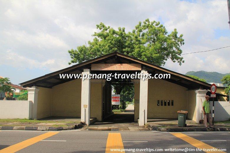 Entrance to the Batu Lanchang Hindu Cemetery