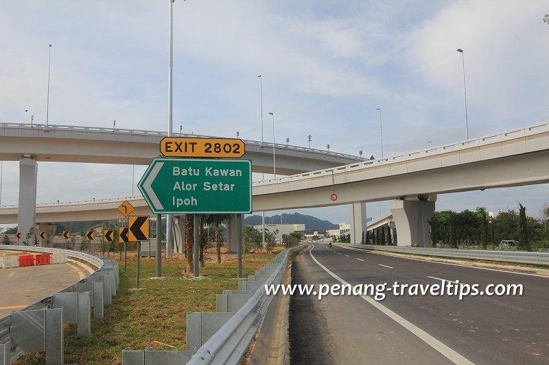 Exit 2802 (Persimpangan Batu Maung), Second Penang Bridge