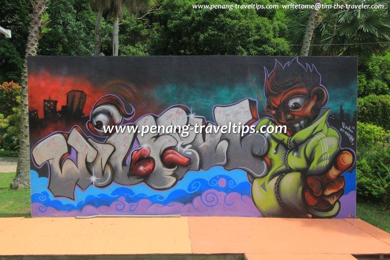 Graffiti Art By Ezul At Penang Graffiti Park