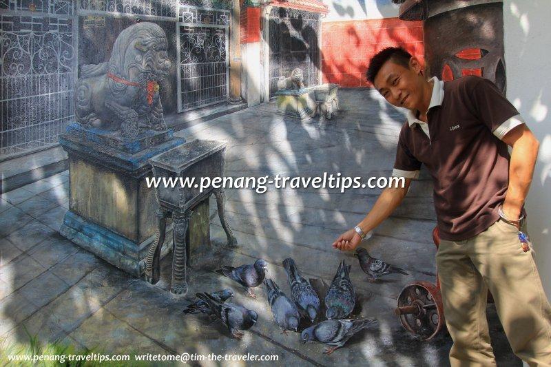 Bowie Low, Ibox Glass, Kuan Yin Teng 3D mural art