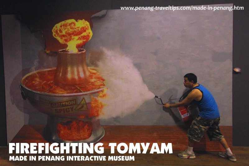 Firefighting Tomyam Mural, Made In Penang Interactive Museum