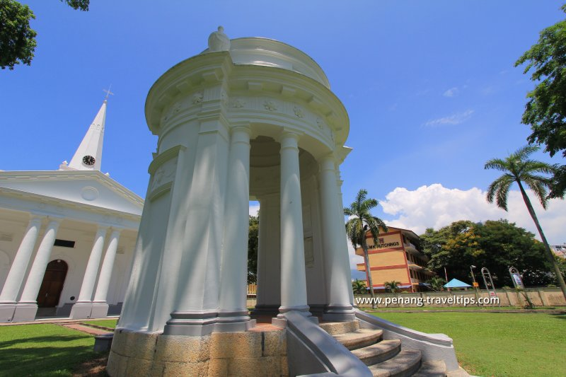 View of the Francis Light Memorial in the compound of the St George's Anglican Church