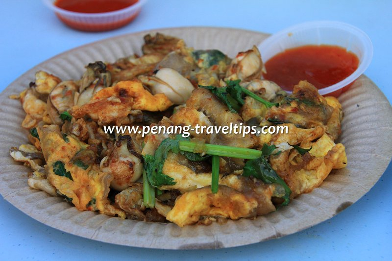 Fried oyster at New Lane Hawker Centre