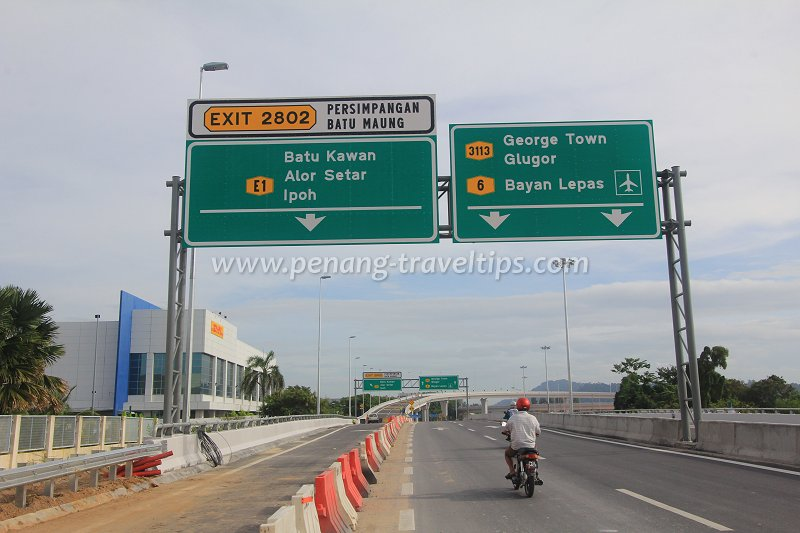 Gantry on Tun Dr Lim Chong Eu Expressway