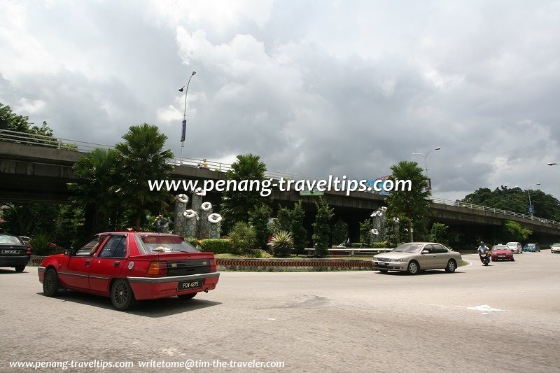 Gelugor Roundabout before beautification