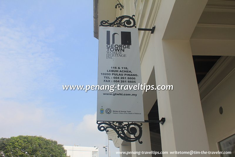 George Town World Heritage Incorporated signboard