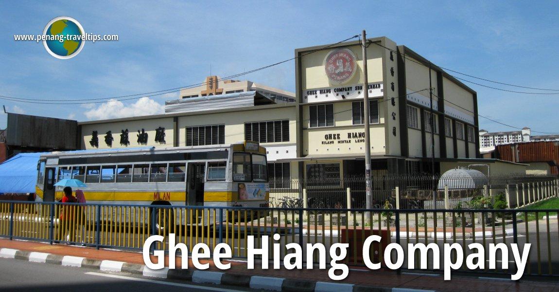 Ghee Hiang Sesame Oil Factory, Sungai Pinang, Jelutong