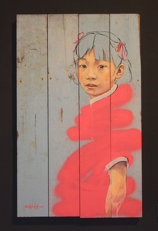 Ernest Zacharevic: Girl in Pink