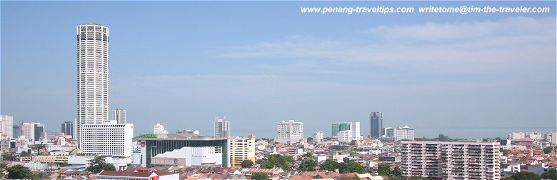 The Greater Penang / Penang Megalopolis area includes George Town and its surrounding townships