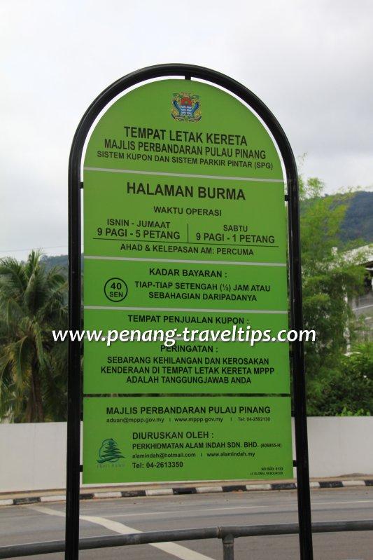 Green Parking Notice Board