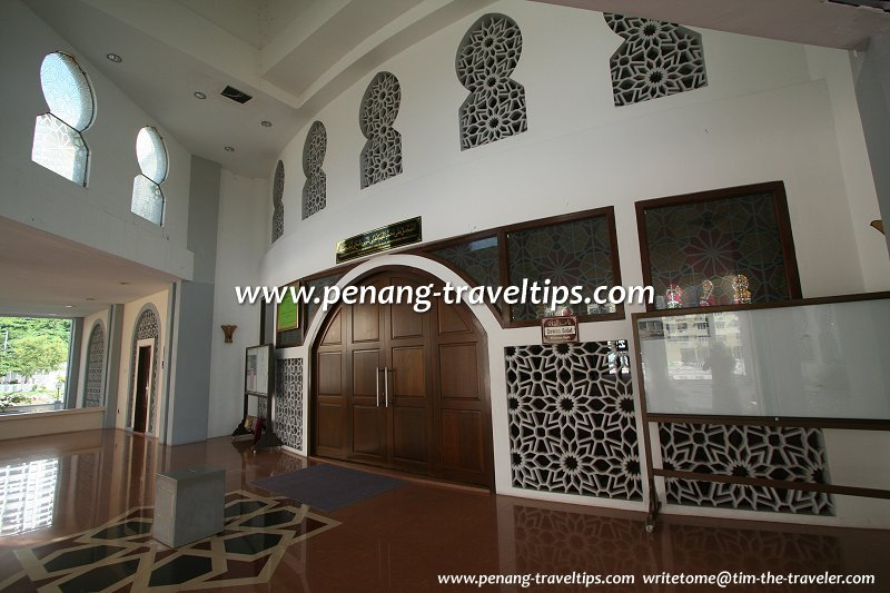 Interior of the Tanjung Bungah Floating Mosque