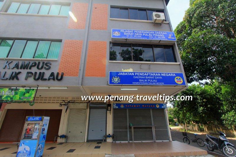 Jabatan Pendaftaran Negara, Balik Pulau
