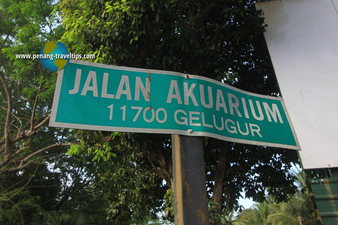 Jalan Akuarium road sign