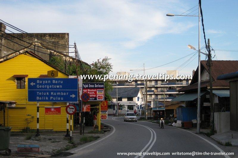 Jalan Dato' Ismail Hashim approaching Pekan Bayan Lepas