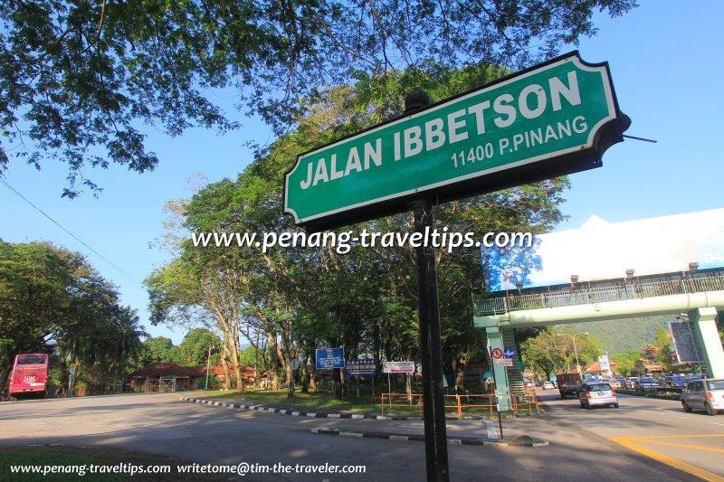 Jalan Ibbetson road sign