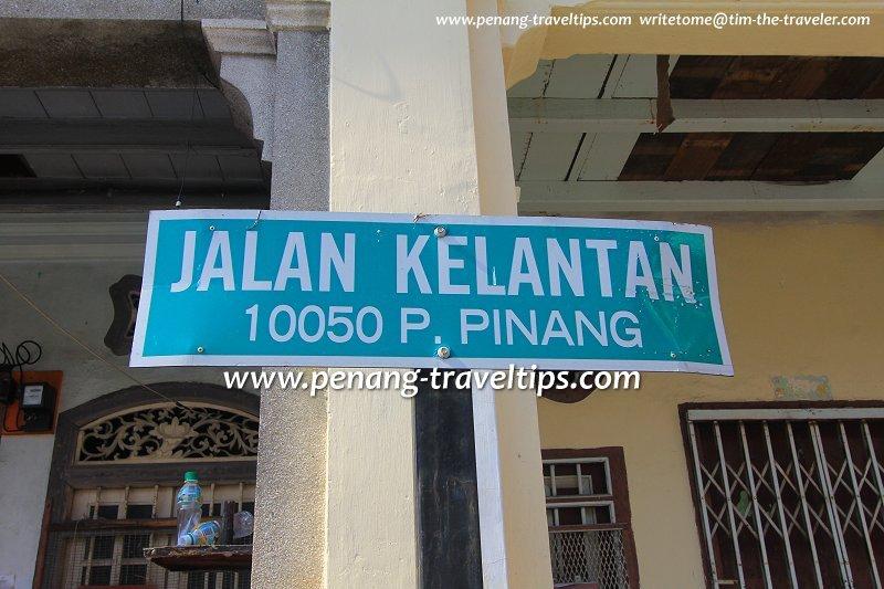 Jalan Kelantan road sign