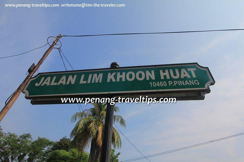 Jalan Lim Khoon Huat roadsign