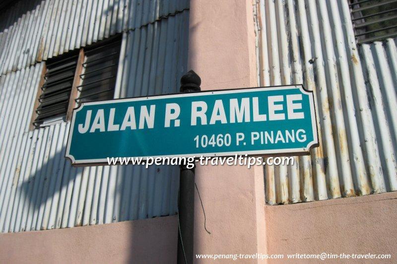 Jalan P Ramlee Caunter Hall George Town Penang
