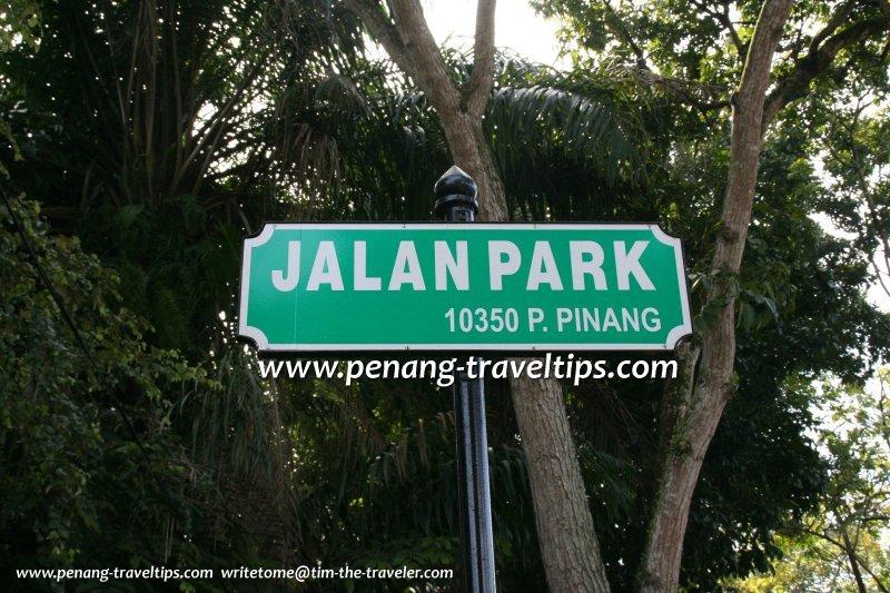 Jalan Park roadsign