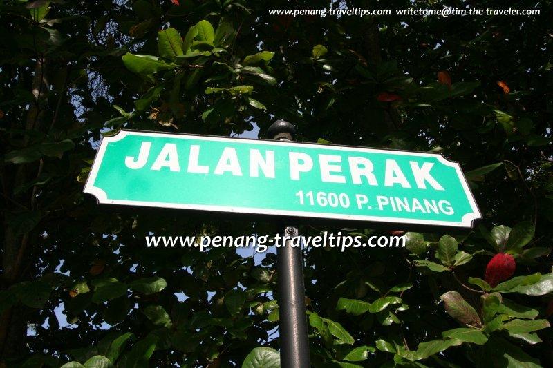 Jalan Perak roadsign