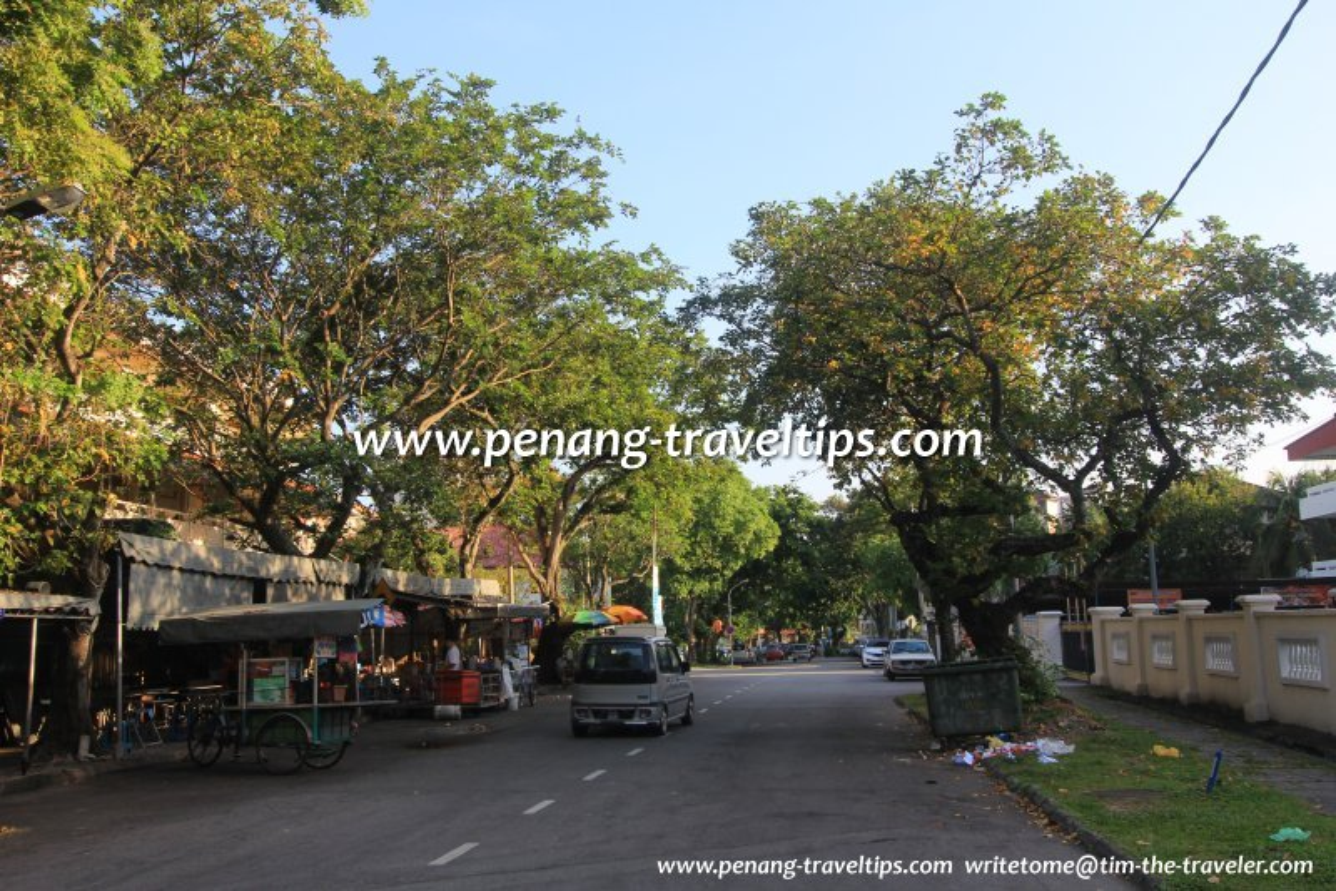 Jalan Sekolah La Salle, near the junction with Jalan Air Itam