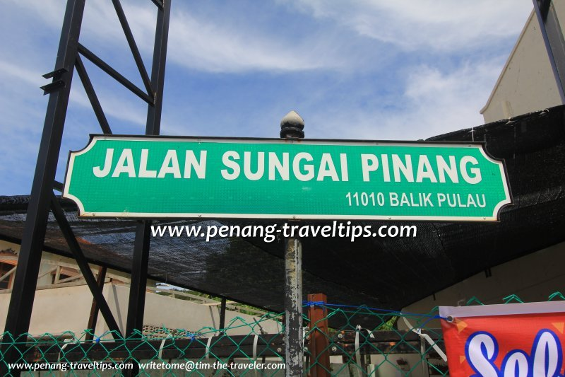 Jalan Sungai Pinang (Balik Pulau) road sign
