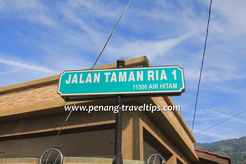 Jalan Taman Ria 1 road sign