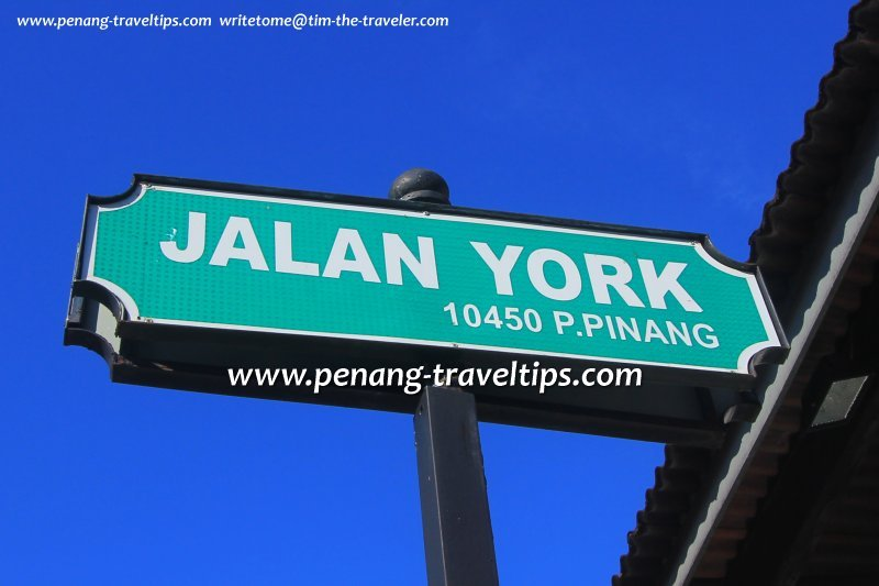 Jalan York road sign