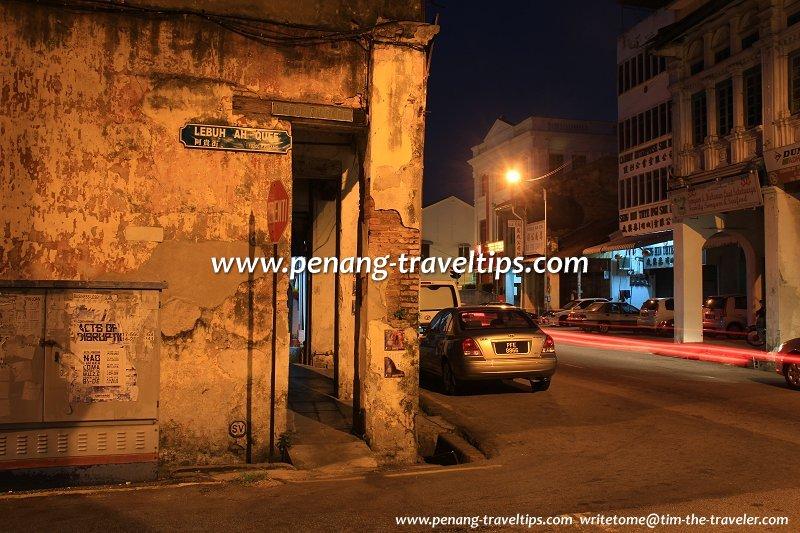 Junction of Ah Quee Street with Beach Street