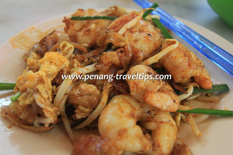 My plate of duck-egg char koay teow